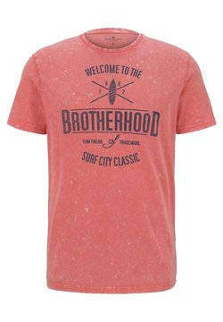 TOM TAILOR - T-Shirt print - neon peach