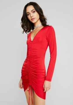 Nly by Nelly - DRAWSTRING SLINKY DRESS - Cocktail dress / Party dress - red