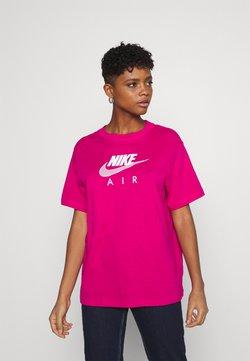 Nike Sportswear - AIR  - T-shirt con stampa - fireberry/white