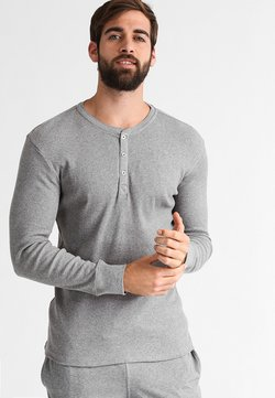 Levi's® - LEVIS 300LS LONG SLEEVE HENLEY - Haut de pyjama - middle grey melange
