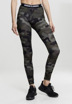 Urban Classics - Leggings - Hosen - wood camo