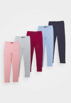 Blue Seven - KIDS BASIC 5 PACK - Legging - mauve/hell blau/nachtblau/nebel/bordeaux