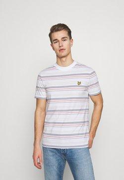 Lyle & Scott - MULTI STRIPE - T-Shirt print - white