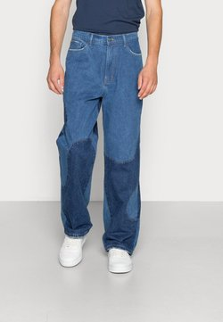 Jaded London - BLUE YIN AND YANG CUT AND SEW - Relaxed fit jeans - blue