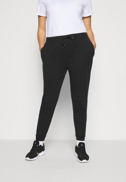 Even&Odd Curvy - SLIM FIT JOGGERS - Jogginghose - black