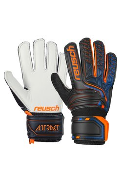 Reusch - DURABLE - Fingerhandschuh - black/shocking orange