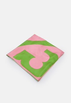 Tory Burch - COLOR BLOCK LOGO SQUARE  - Chusta - pink
