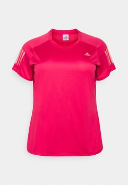adidas Performance - OWN THE RUN TEE - T-Shirt print - power pink