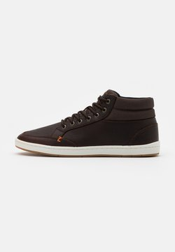 HUB - INDUSTRY - Sneakers hoog - dark brown/offwhite