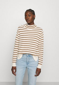 Mos Mosh - STRIPE - Strickpullover - toasted cocount