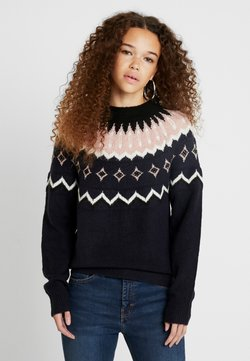 Vero Moda Petite - Jumper - night sky/black/pristine/misty rose