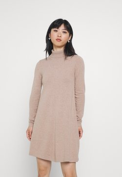 Vero Moda Petite - VMHAPPINESS ROLLNECK DRESS - Neulemekko - tobacco brown