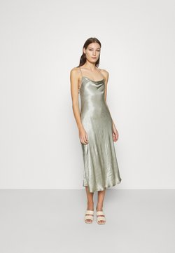 Third Form - WATERS EDGE BIAS SLIP DRESS - Iltapuku - sage