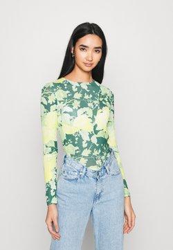Topshop - FLORAL - Long sleeved top - green