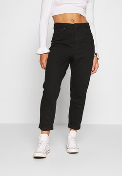Topshop Petite - MOM CLEAN - Jeans Relaxed Fit - black