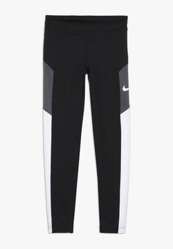 Nike Performance - TROPHY - Legging - black/white/dark grey