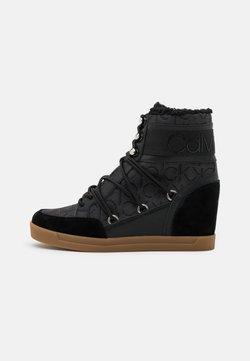 Calvin Klein - FIORENZA - Schnürstiefelette - black