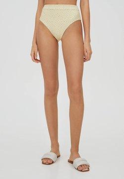 PULL&BEAR - MIT BLUMEN - Bikinibroekje - yellow
