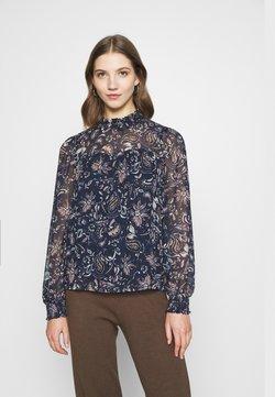 Vero Moda - VMLALLIE SMOCK - Blouse - navy blazer