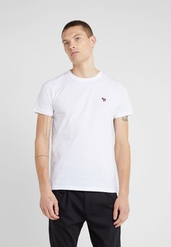 PS Paul Smith - SLIM FIT ZEBRA - T-Shirt basic - white