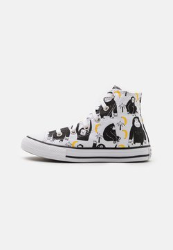 Converse - CHUCK TAYLOR ALL STAR JUNGLE FUN UNISEX - Korkeavartiset tennarit - white/black/yellow