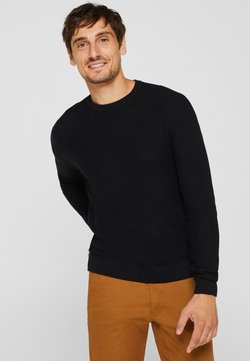 Esprit - HONEYCOMB - Strickpullover - black