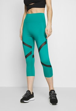 Wolf & Whistle - EXCLUSIVE CROPPED PANEL LEGGINGS - Trikoot - teal