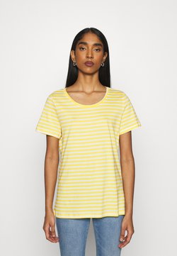 Vila - VISUS  - T-Shirt print - spicy mustard/optical snow