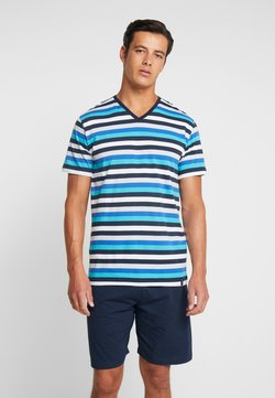 Ceceba - SHORTY V-NECK - Pyjama - blue light