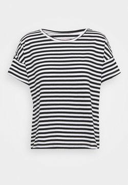 Anna Field - T-shirt con stampa - black/white
