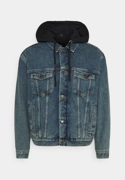 Tommy Hilfiger - LEWIS HAMILTON UNISEX OVERSIZED HOODED - Giacca di jeans - indigo denim