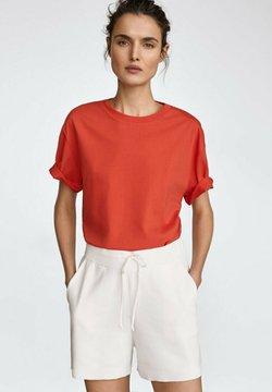 Massimo Dutti - MIT PATCH - T-Shirt print - red