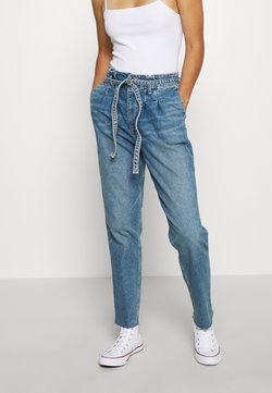 Hollister Co. - CURVY MOM  - Jeans Relaxed Fit - blue denim