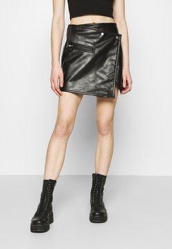 Weekday - RIDLEY BIKER SKIRT - A-line skirt - black
