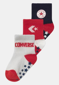Converse - CONVERSE LOGO INFANT TODDLER QUARTER 3 PACK UNISEX - Sokken - enamel red