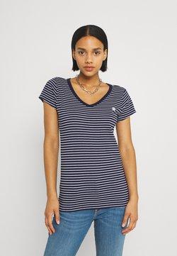 G-Star - EYBEN SLIM - T-Shirt print - warm sartho/white