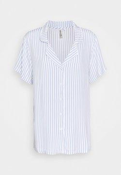 Lindex - NIGHT STRIPE - Pyjamashirt - blue