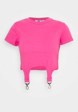The Ragged Priest - SHORTSLEEVE RINGER TRIGGER DETAIL - T-shirt imprimé - pink