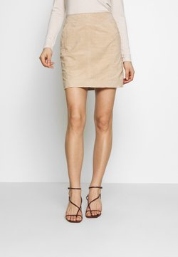 Vila - VISUSA SKIRT - Leather skirt - brown