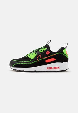 Nike Sportswear - AIR MAX 90 UNISEX - Sneaker low - black/flash crimson/green strike/white/dark grey