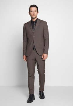 Isaac Dewhirst - CHECK SUIT - Kostuum - brown