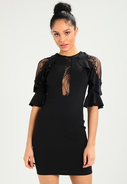 WAL G. - RUFFLE SLEEVE INSERT MINI - Cocktail dress / Party dress - black