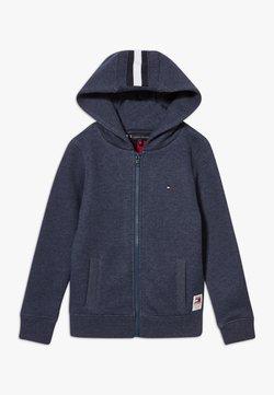 Tommy Hilfiger - BACK INSERT HOODED FULL ZIP - veste en sweat zippée - blue