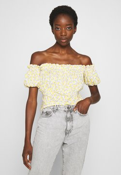 Miss Selfridge - LEMON BARDOT - Bluse - yellow