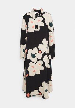 Marimekko - ARKUSSIINI LIITO DRESS - Freizeitkleid - black/beige/coral