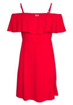 Pieces Petite - PCARIZONA OFF SHOULDER DRESS - Jerseykleid - goji berry