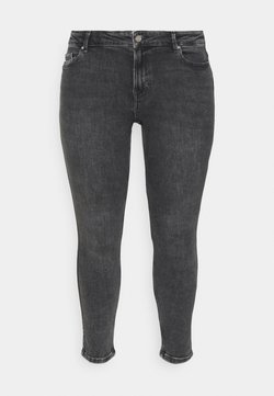 Pieces Curve - PCLILI  - Slim fit jeans - medium-grey denim