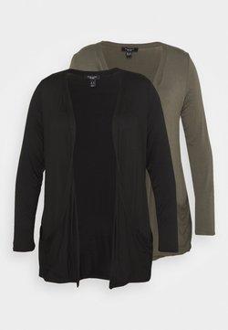 New Look Curves - DROP POCKET CARDI 2 PACK - Cardigan - black