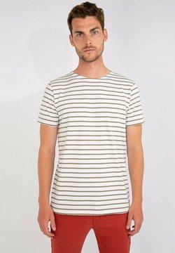 Armor lux - HOËDIC MARINIÈRE - T-Shirt print - blanc/fern