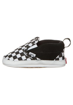 Vans - SLIP-ON V CRIB - Krabbelschuh - black/true white